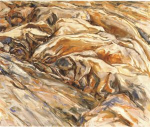 1956 Ridged Rock Oil on Canvas 40 x 48