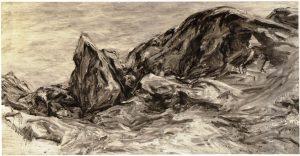 1956 Rocky Edge Oil on Canvas 30 x 48