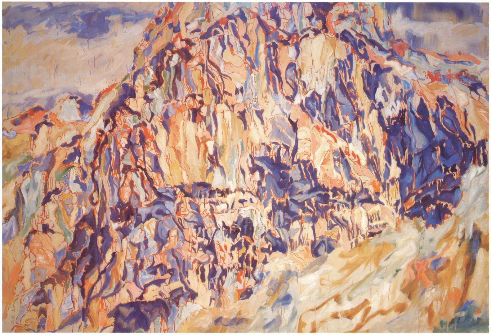 "1960 Positano #1 Oil on Canvas 66"" x 96"""