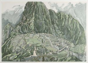 1979 Machu Picchu Aquatint Etching on Paper 28.5 x 40