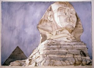 1979 Sphinx Watercolor on Paper 29 x 41