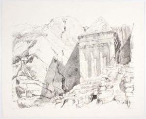 1986 Tomb of Zacharia Lithograph on Paper 29 x 36.5