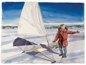 2010 Snow Boat Watercolor on Paper Dimensions Unknown