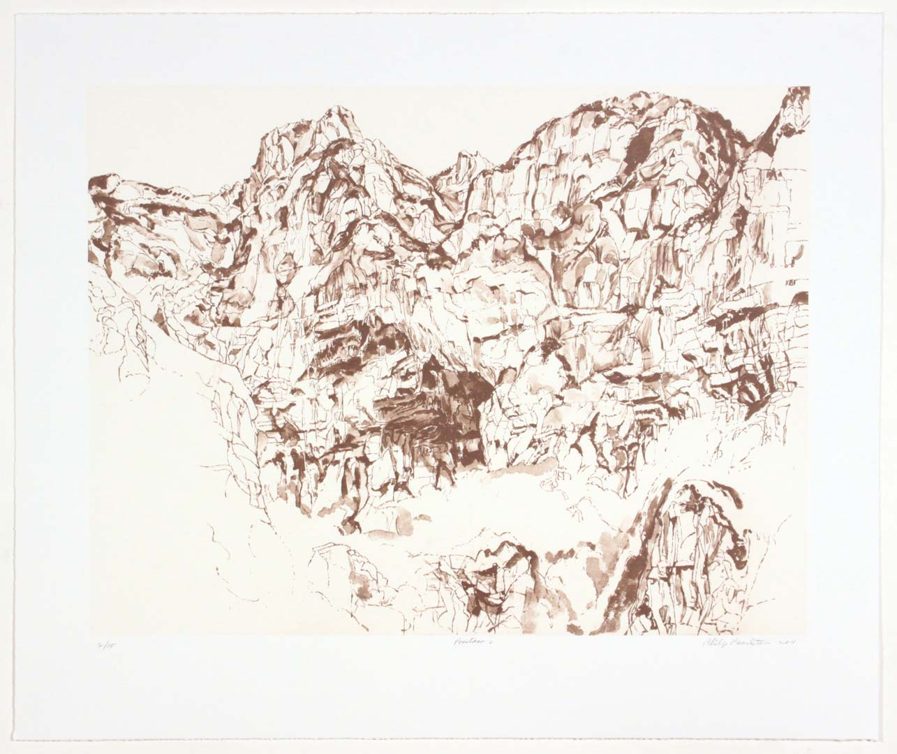 2011 Positano #2 Lithograph on Paper 20.625 x 24.625