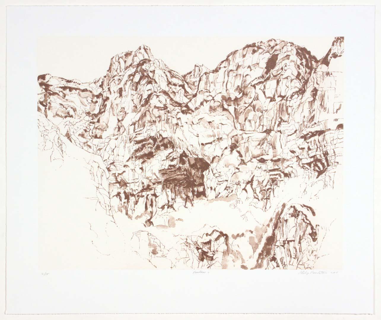 "2011 Positano #2 Lithograph on Paper 20.625"" x 24.625"""
