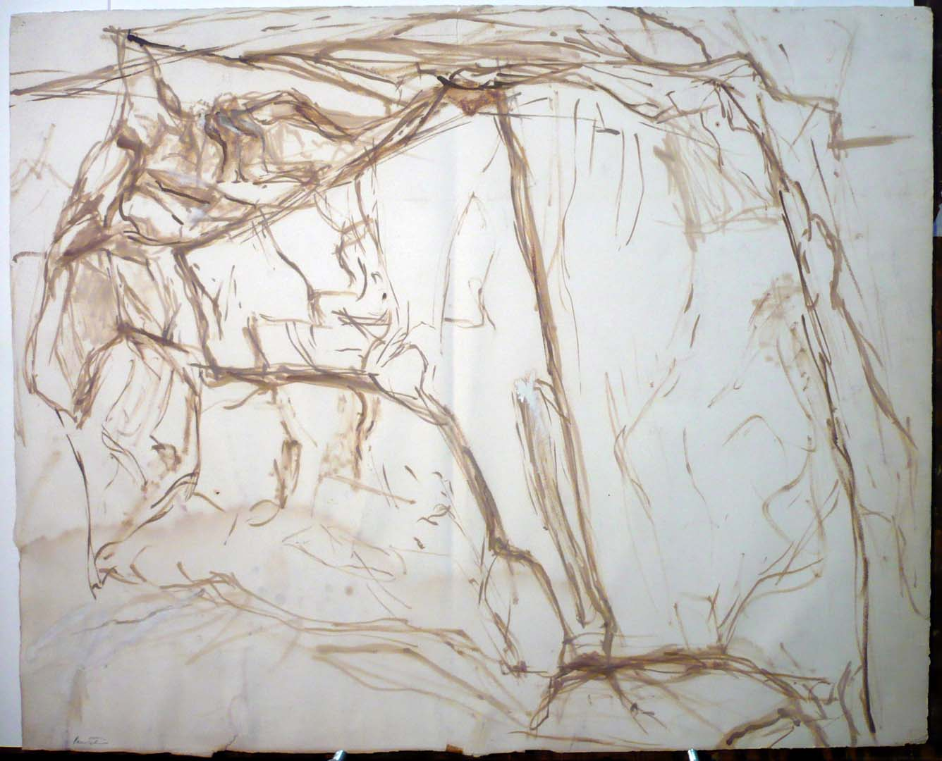 Study For Yellow Rock Oil on Paper
