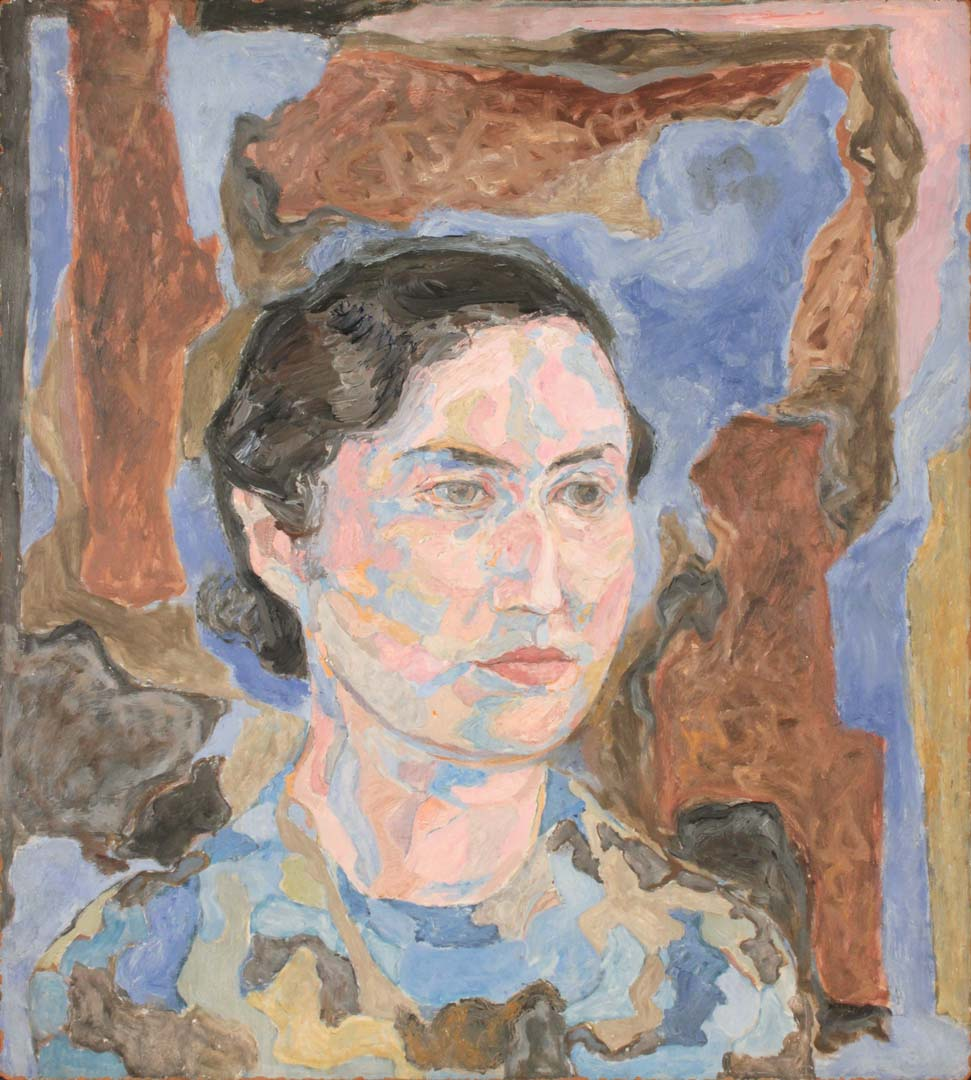 "1950 Portrait of Dorothy Cantor (Pearlstein) Casein on masonite 8"" x 10"""