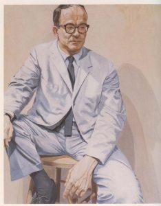 """1965 Portrait of Allan Frumkin Oil on canvas 60"""" x 48"""""""