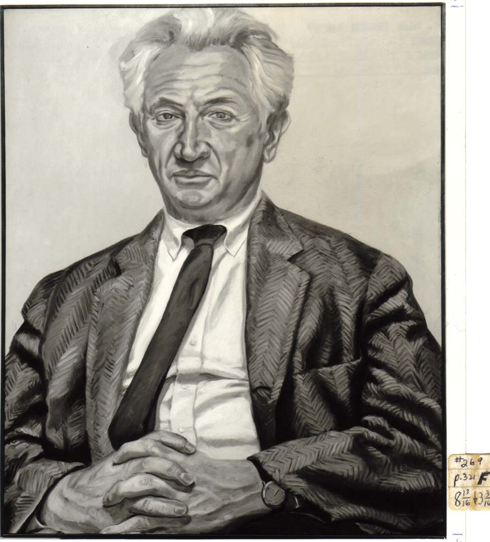 1966 Portrait of Leonard Bocour Oil on canvas 44 x 36