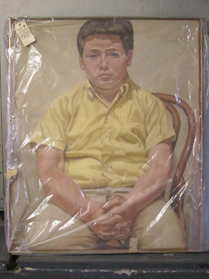 "1967 Portrait of William Oil on Canvas 44"" x 36"""