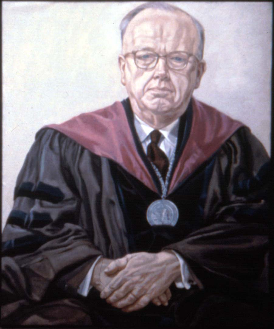 "1968 Portrait of Dr. Kilcoyne Oil on canvas 44"" x 36"""