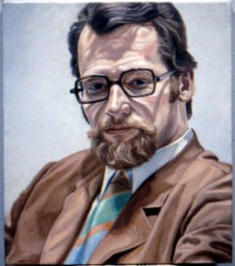 1969 Portrait of Edward Blackhoff Oil on canvas 24 x 18