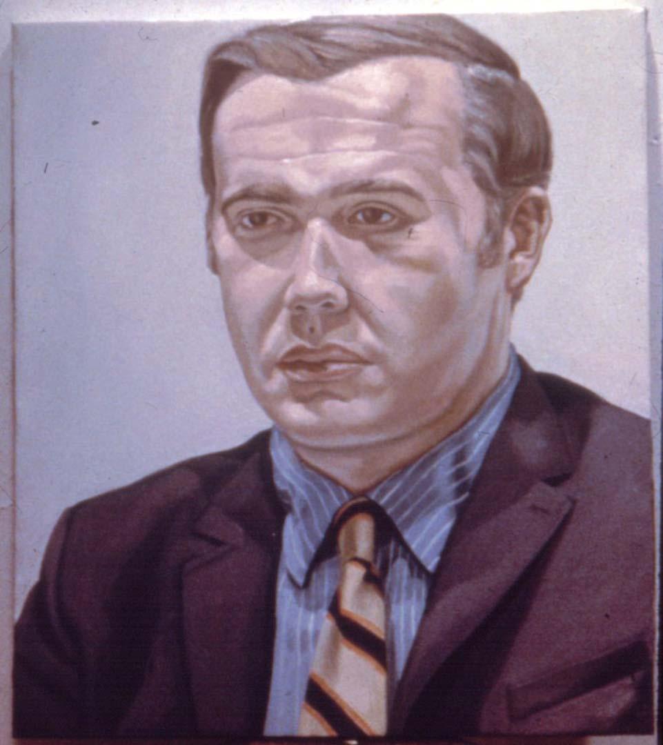 """1969 Portrait of Kurt Gitter Oil 29.5"""" x 25.5"""""""