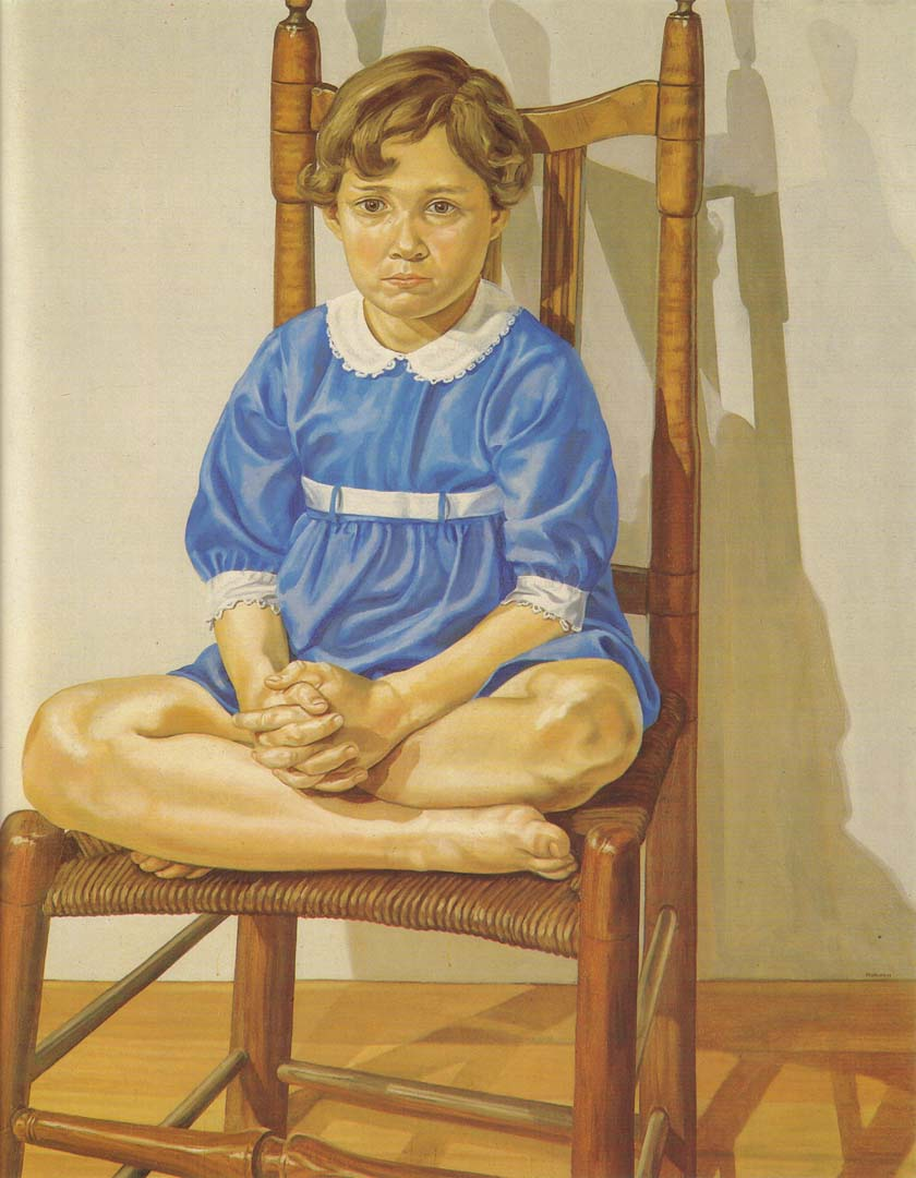 "1969 Portrait of the Artist's Daughter Oil on canvas 60"" x 48"""