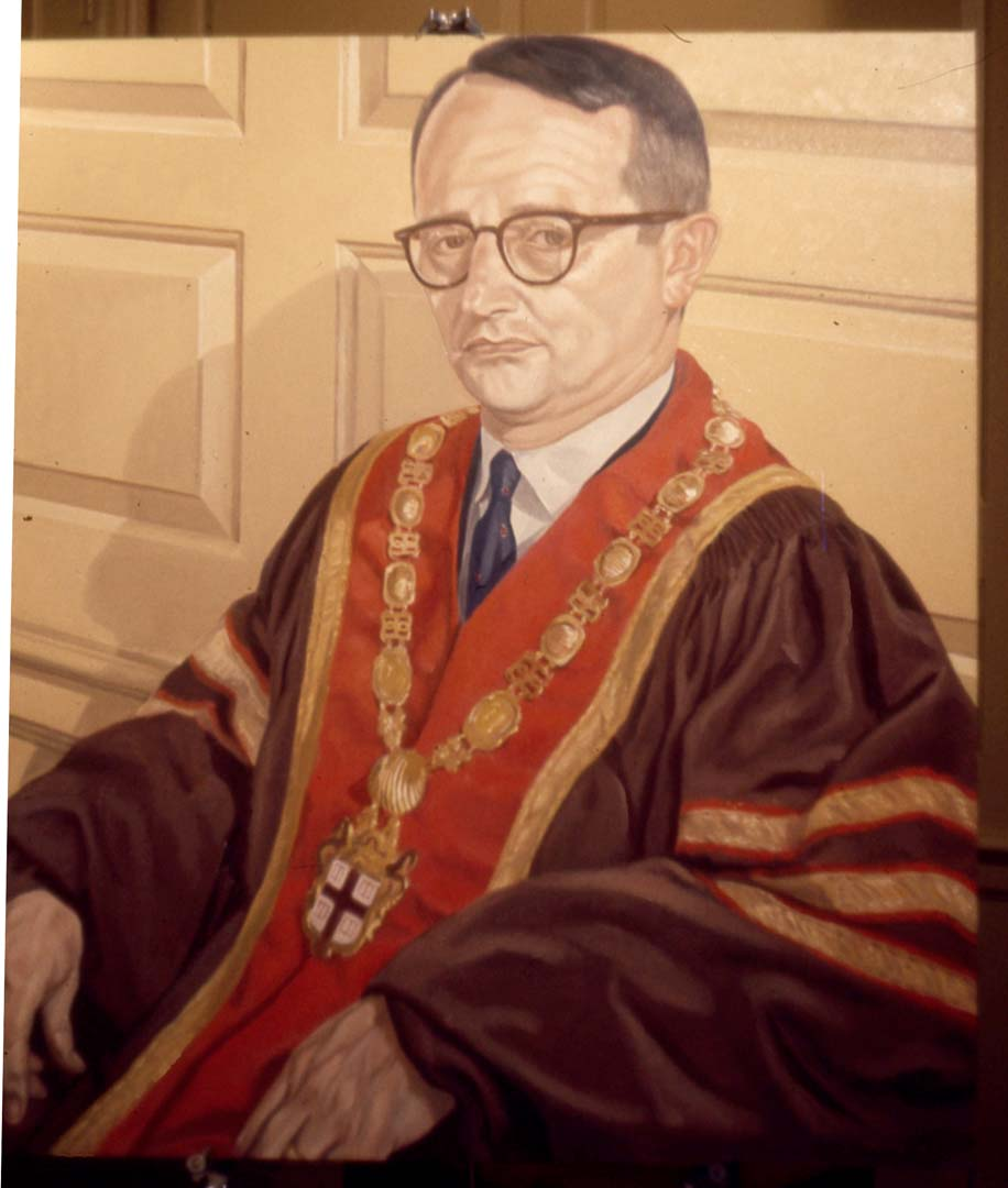 1969 Portrait of the President of Brown University (Raymond Heffner) Oil on canvas Dimensions Unknown