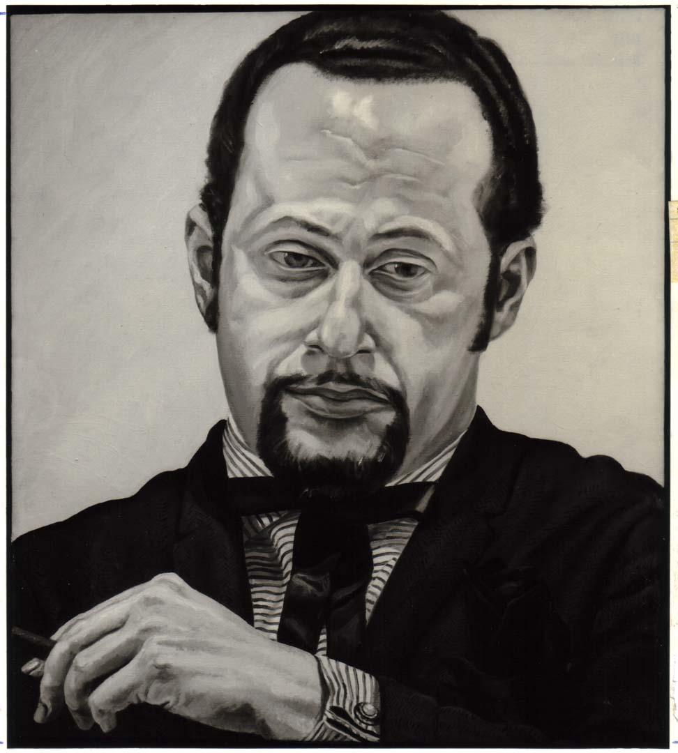 "1970 Portrait of Jerome Eisenberg Oil on canvas 25"" x 22"""