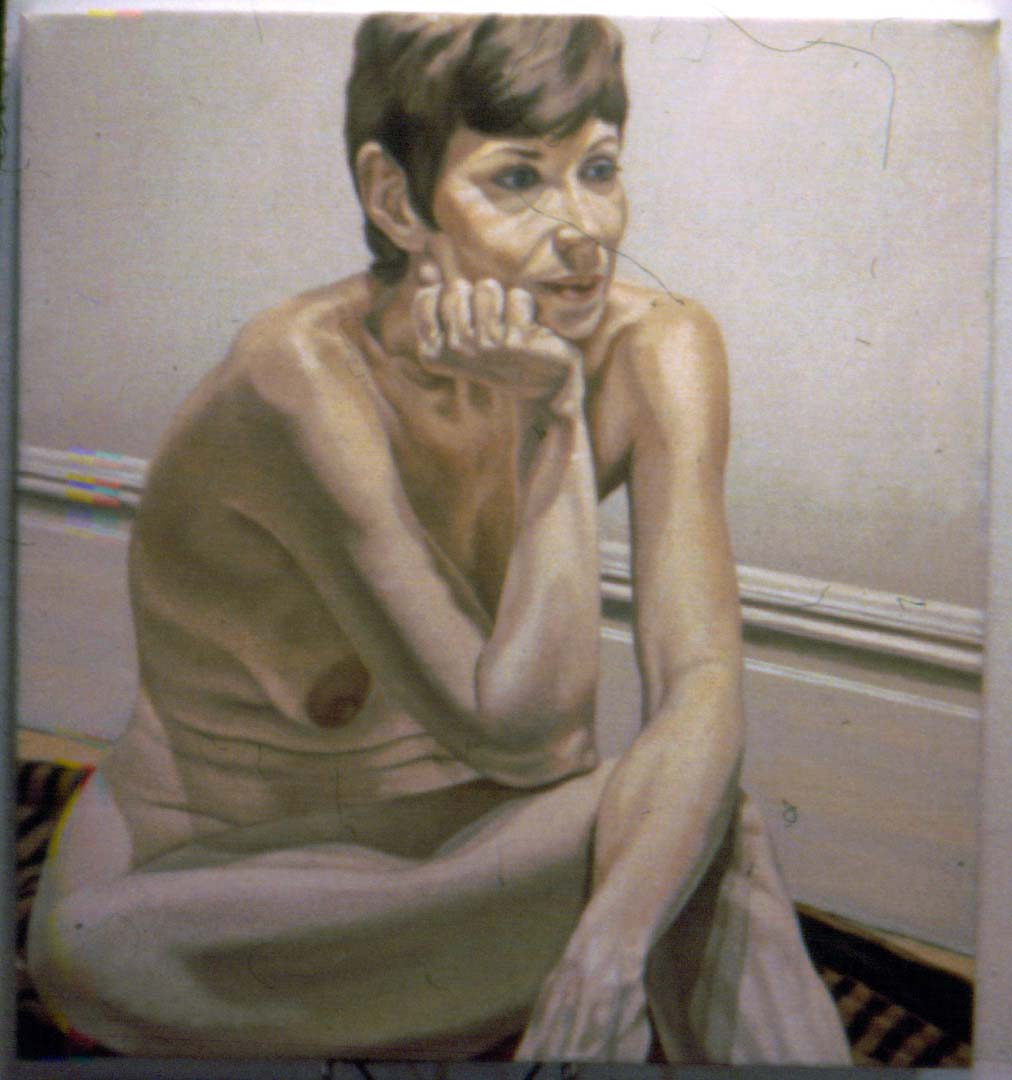 "1970 Portrait of Marilyn Gould Oil on canvas 41"" x 36"""