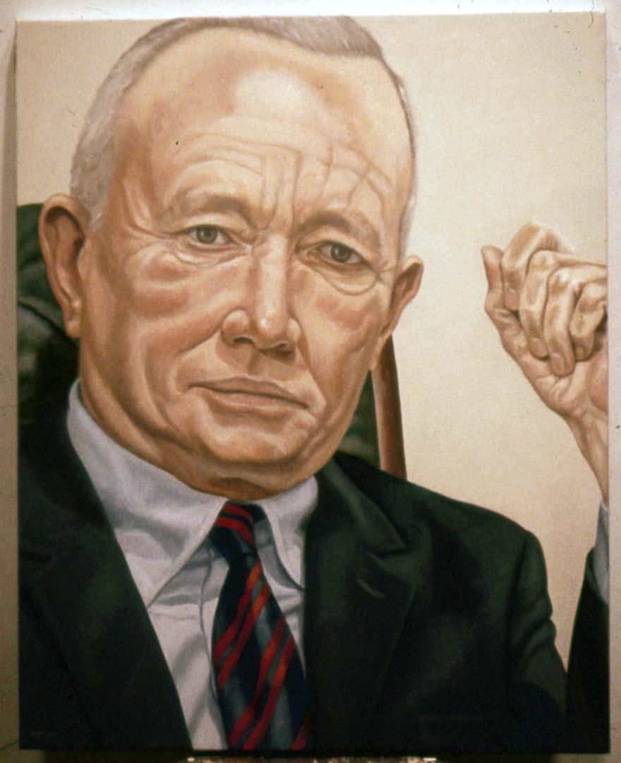 1971 Portrait of Alexander Casset Oil 31 x 25