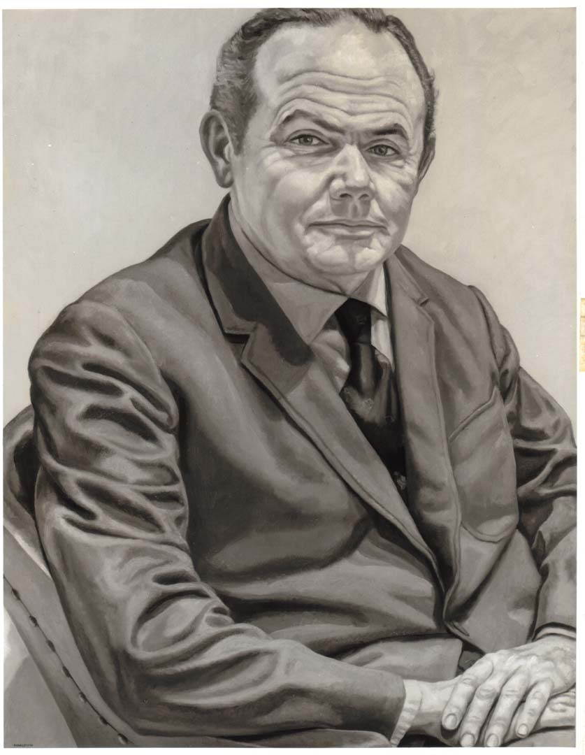 "1971 Portrait of Dr. William F. Quillian Jr. Oil on canvas 42"" x 32"""