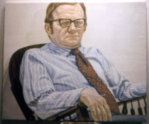 1971 Portrait of Pashlinski Oil 42 x 36