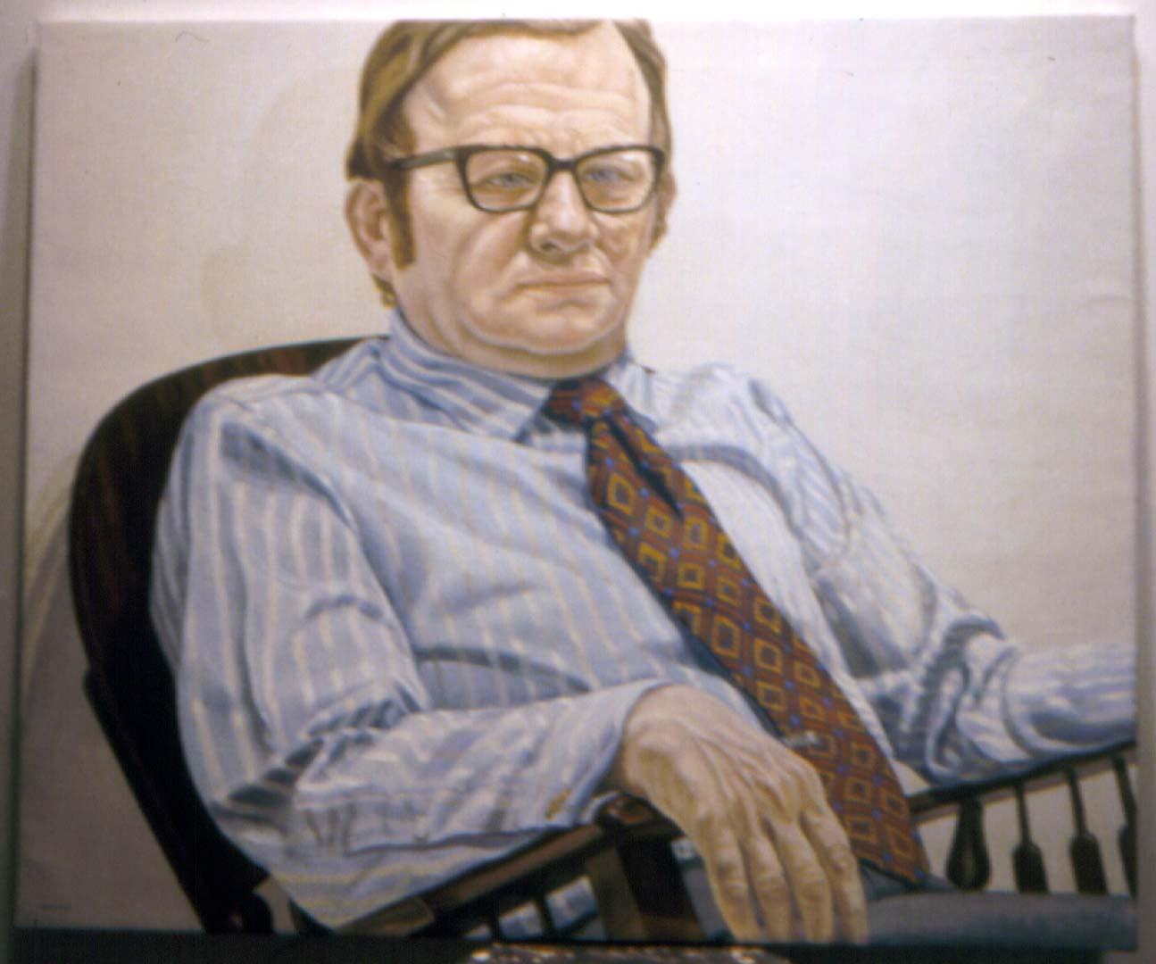 """1971 Portrait of Pashlinski Oil 42"""" x 36"""""""