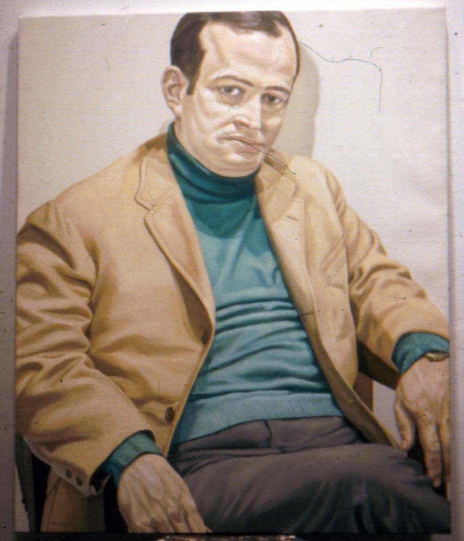 "1971 Portrait of Robert Spiegel Oil 42"" x 36"""