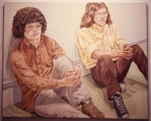 1971 Portrait of William Pearlstein & Benet Oil 48 x 60
