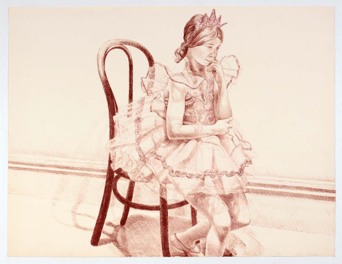 "1972 Ellen in Tutu Lithograph on Paper 25.25"" x 33.25"""