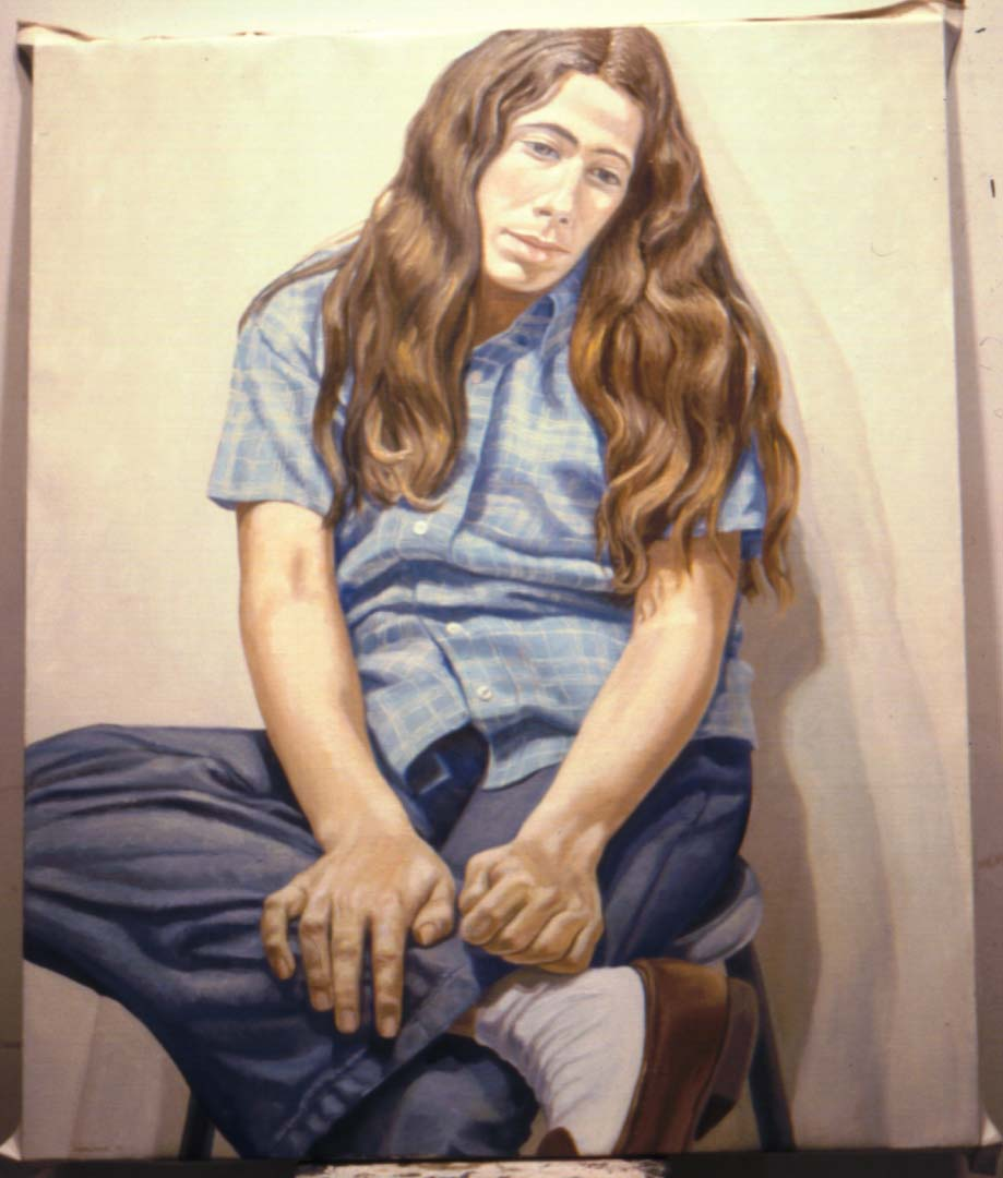 "1972 Portrait of Linda Schwartz Oil on canvas 44"" x 36"""