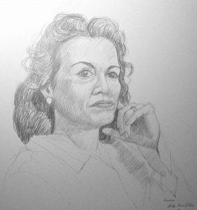 1974 Fredda (Horace Mann Auction) Pencil Dimensions Unknown