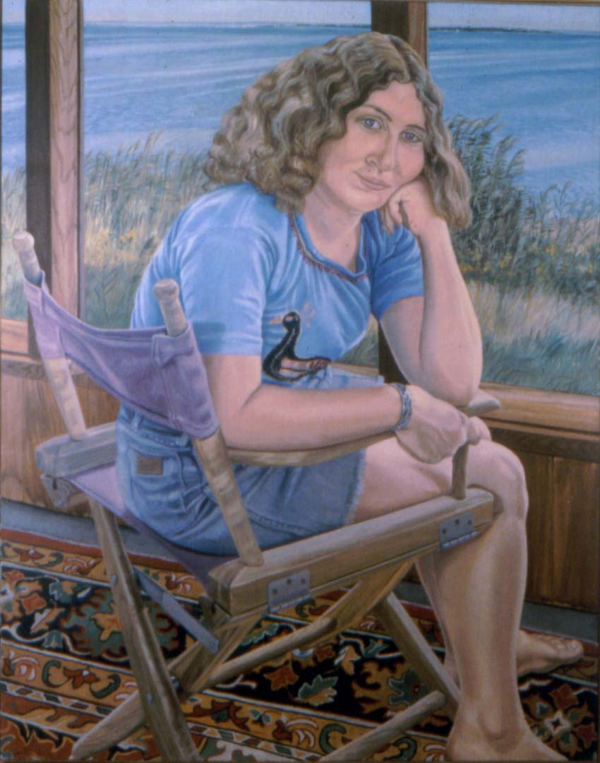 "1975 Portrait of Julia on Fire Island Oil 60"" x 40"""