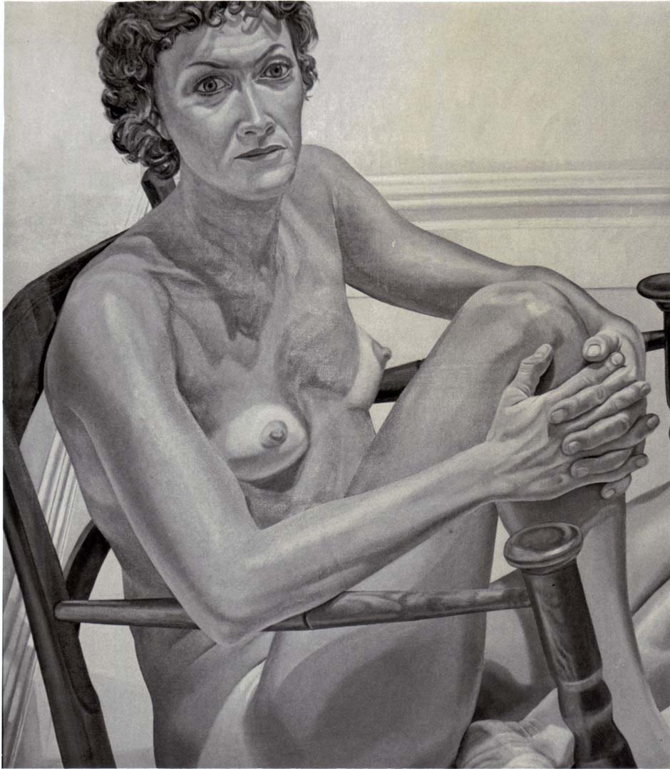 "1975 Portrait of Nancy Meltzer Oil on canvas 48"" x 41.5"""