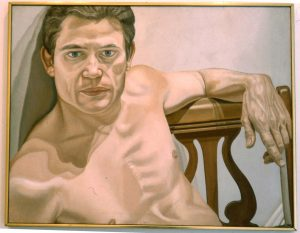 1975 Portrait of Scott Burton Oil 28 x 36
