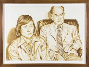 1976 Portrait of Shirley & Mr Aidichman Wash approx. 29 x 40