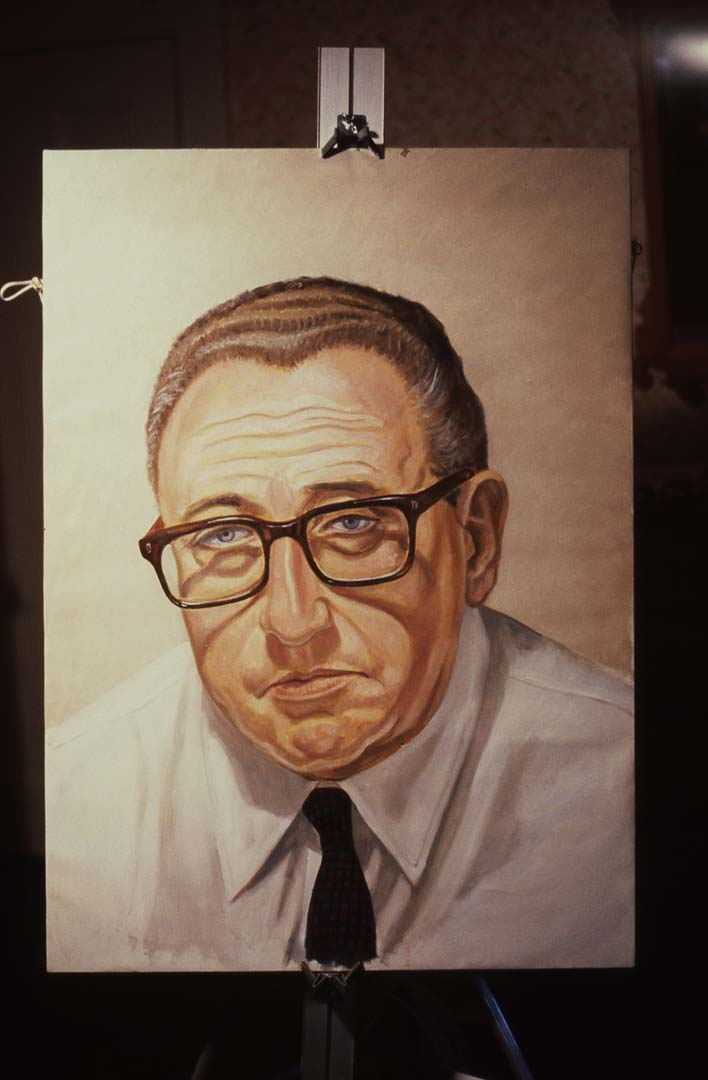 1979 Portrait of Henry Kissinger Oil on Canvas 36 x 26