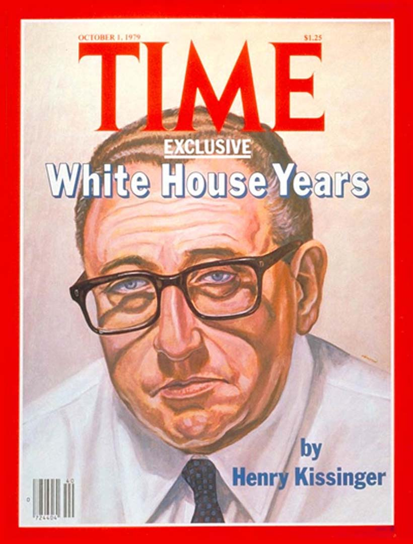 1979 Portrait of Henry Kissinger for TIME Magazine Cover Magazine Cover Dimensions Unknown