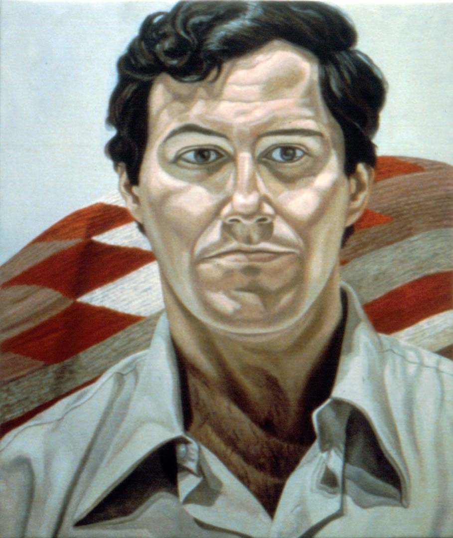 "1980 Portrait of Jonathon Aronson Oil 30"" x 25"""
