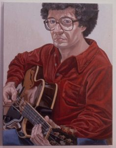 1980 Portrait of William Pearlstein Oil on canvas 36 x 28