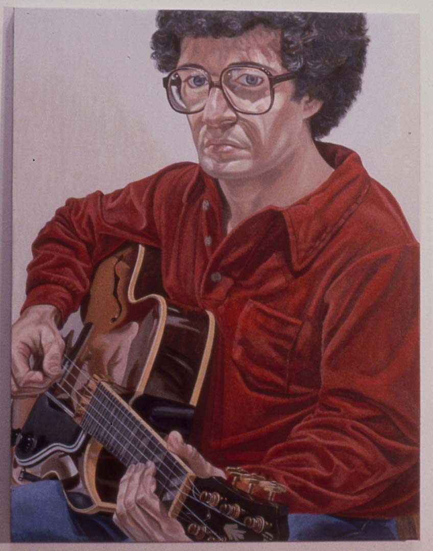 "1980 Portrait of William Pearlstein Oil on canvas 36"" x 28"""