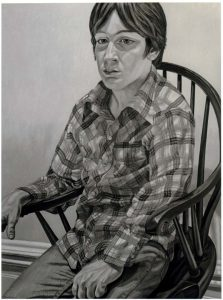1981 Portrait of Steven Melzer Oil on canvas 40 x 24