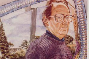 1982 Self Portrait Watercolor on paper 29.5 x 41