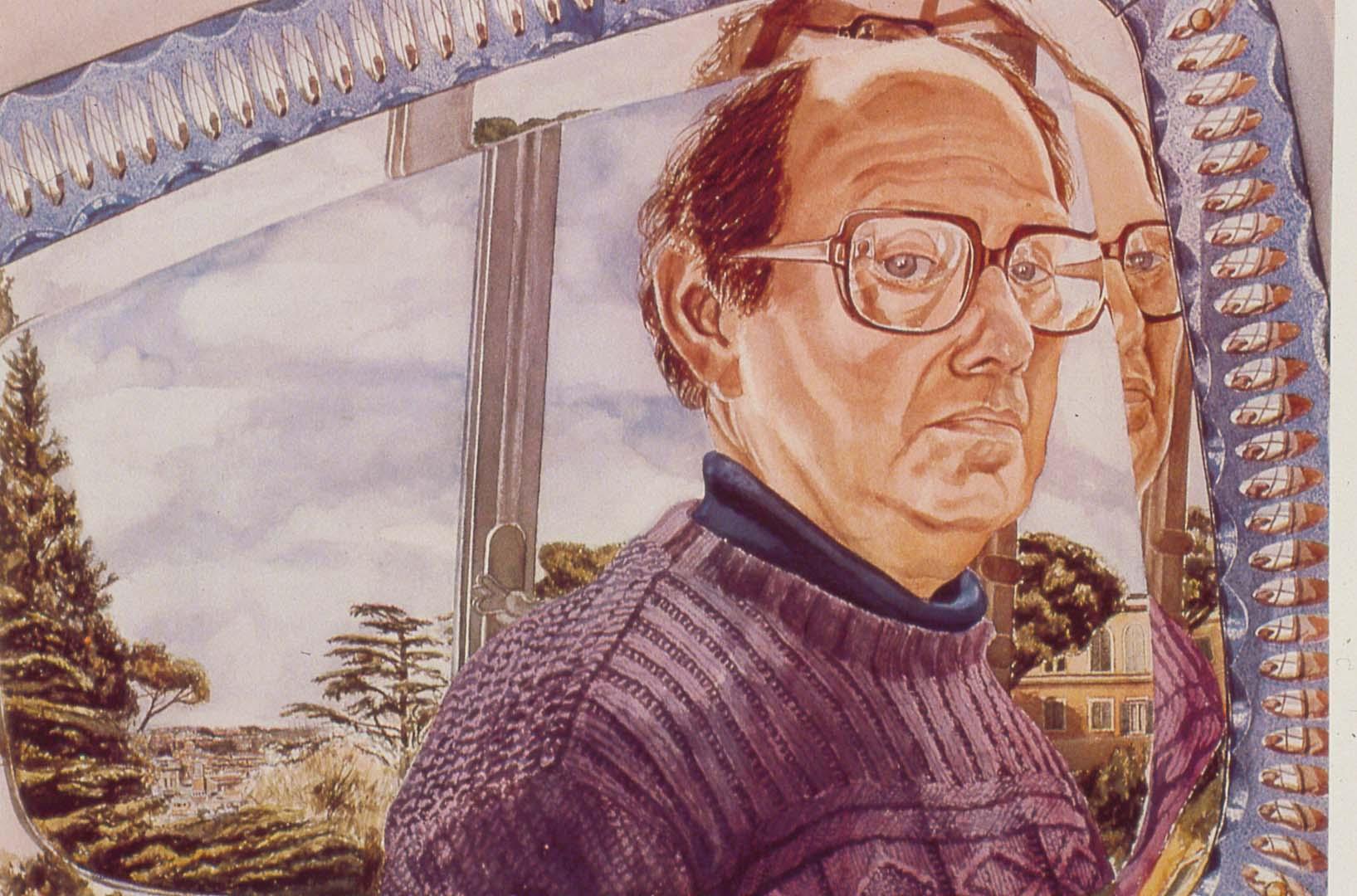 "1982 Self Portrait Watercolor on paper 29.5"" x 41"""