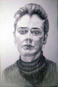 1986 Portrait of Christine Pencil Dimensions Unknown