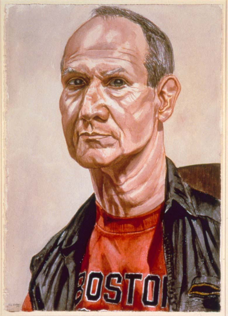 "1986 Portrait of Jack Mitchell Watercolor 29.25"" x 20.625"""
