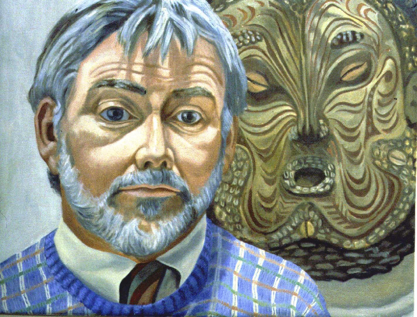 "1986 Portrait of John Fitz Gibbon Oil on canvas 23"" x 29"""