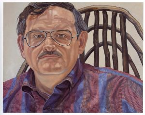 1986 Portrait of Richard Haas Oil on canvas 23 x 29