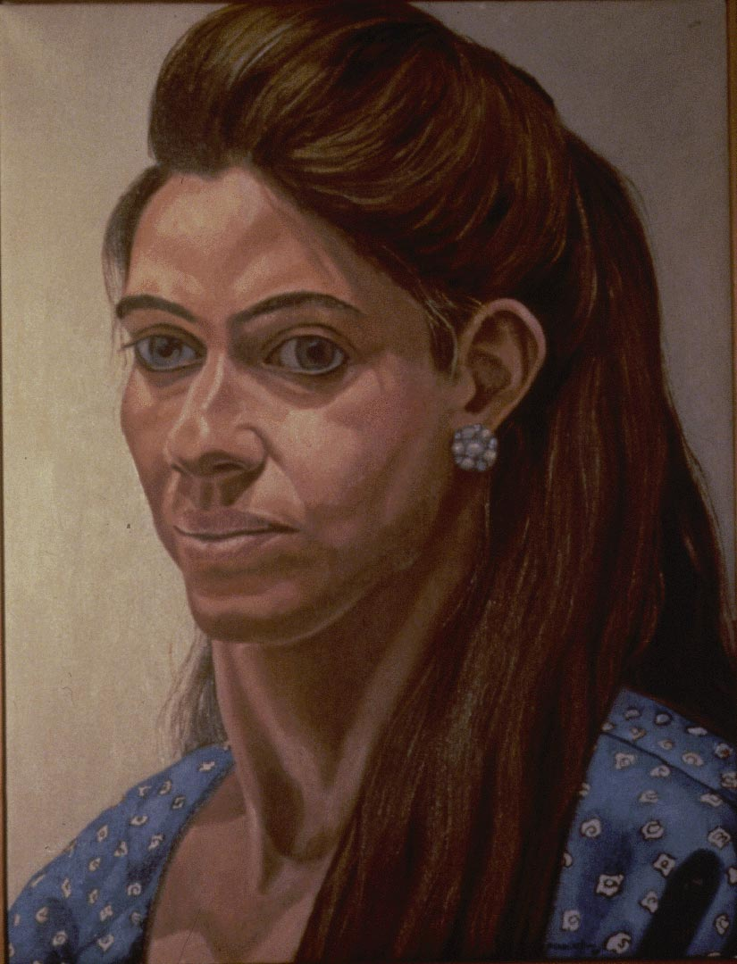 1988 Portrait of Leslie Buchbinder Oil on canvas 16 x 20
