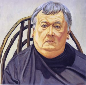 1991 Portrait of Dennis Adrian Oil on canvas 30 x 30