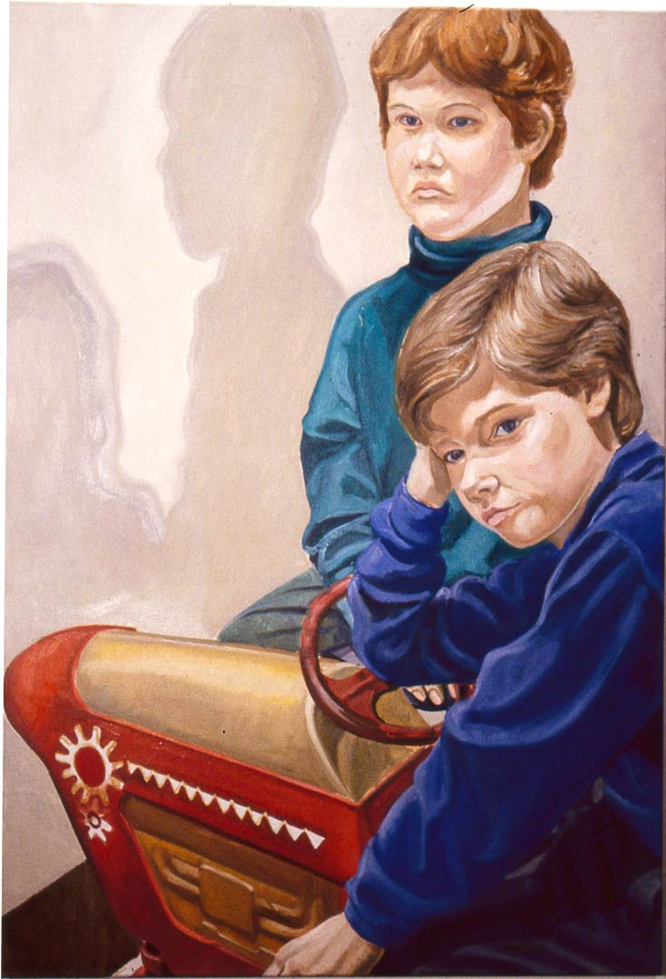 1991 Portrait of Richard and Bayard Templeton Oil on canvas Dimensions Unknown