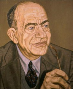 1993 Portrait of Dr. Erwin Panofsky Oil 34 x 28